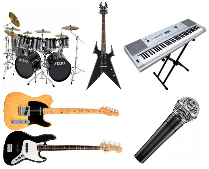 Instrumentos de música heavy metal